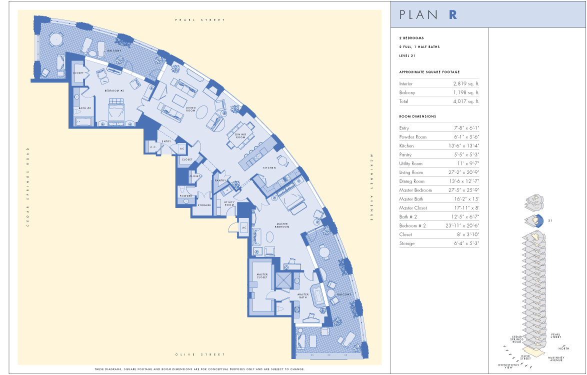 dallas penthouse floor plan