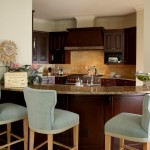 Bar/kitchen area of the showcase residence designed by Barry Williams