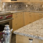 Close up shot of exquisite granite counters in the Ann Sutherland showcase residence