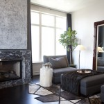 Ann Sutherland uses grays and blacks to design this living room