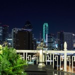 Here's a gorgeous view of the Dallas skyline from the balcony of the Laura Hunt showcase residence.